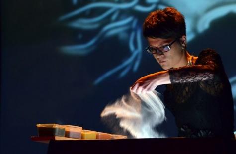 21 января  в Рязанском кафе «Фонтан» московская студия «Тихая музыка» представит свои работы из песка «Времена года» 1_3460