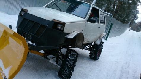 Рязанец из «Оки» сделал снегоуборочную машину 1_3622
