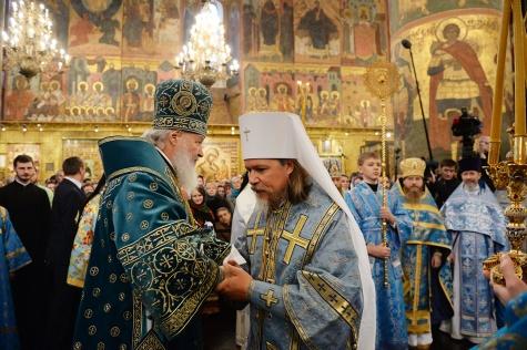 Патриарх Кирилл возвел рязанского архиепископа в сан митрополита 1_6338