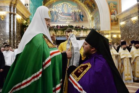 Патриарх Кирилл напутствовал главу Скопинской епархии 1_6479